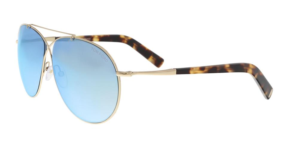 a3c6e6fe6de8 Tom Ford Tom Ford FT0374 S 28X Eva Gold Aviator Sunglasses Image 0 ...
