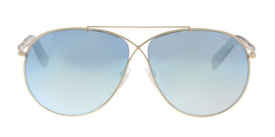 45afed354e7b Tom Ford Tom Ford FT0374 S 28X Eva Gold Aviator Sunglasses Image 2