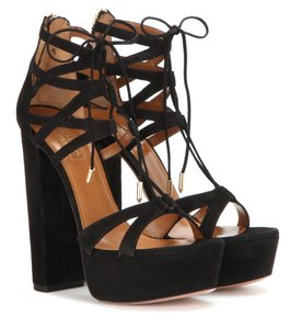 Aquazzura R 39 BLACK Platforms