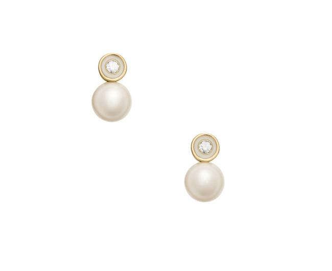 Kate Spade Cream Gold Clear W Pearly Delight Studs Dust Bag Earrings Kate Spade Cream Gold Clear W Pearly Delight Studs Dust Bag Earrings Image 1