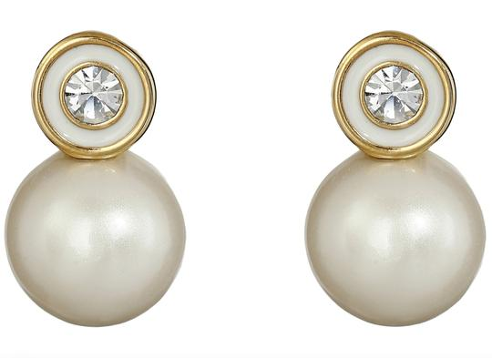 Kate Spade NWT KATE SPADE PEARLY DELIGHT STUDS EARRINGS W DUST BAG CREAM GOLD Image 2