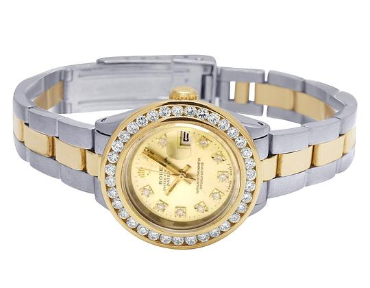 Rolex Datejust Two Tone 18K/ Steel 26MM Champagne Dial Diamond Watch 3.0 Ct Image 5
