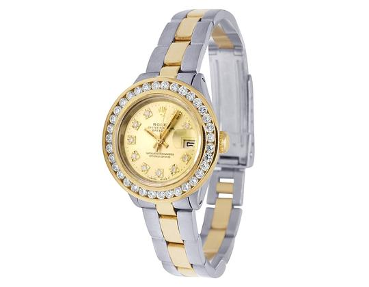 Rolex Datejust Two Tone 18K/ Steel 26MM Champagne Dial Diamond Watch 3.0 Ct Image 6