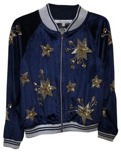 Lovers + Friends blue and metallic Jacket