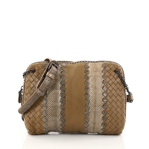 Bottega Veneta Nappa Snakeskin Cross Body Bag