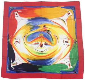 Hermès Hermes Smiles in the Third Millenary twill scarf