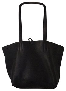 Prada Leather Leather Double Strap Tote in Black