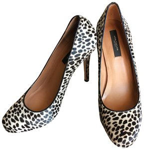 Ann Taylor Black, Tan, Leopard, Print Pumps