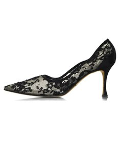 Manolo Blahnik Lace Heels black Pumps