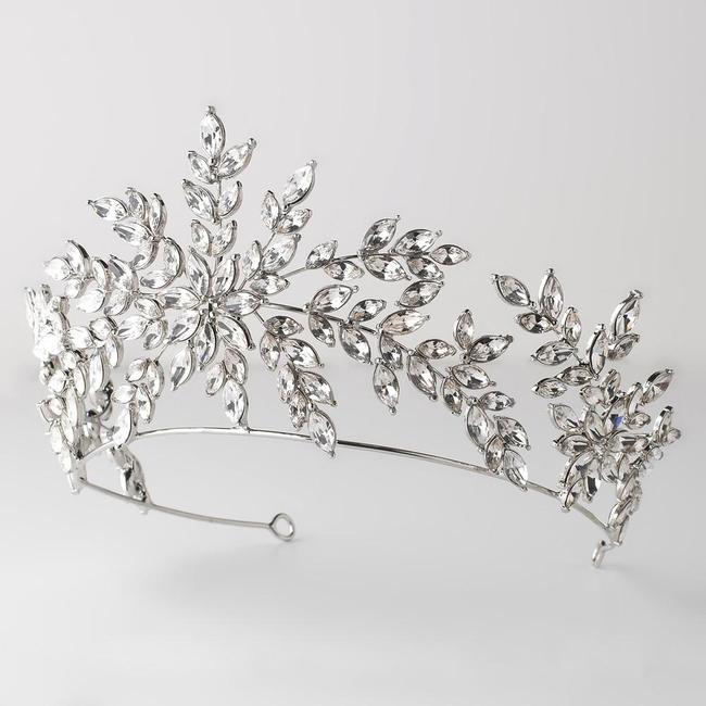 Elegance by Carbonneau Silver Crown Headband Crystal Pageant Crown Tiara Elegance by Carbonneau Silver Crown Headband Crystal Pageant Crown Tiara Image 1