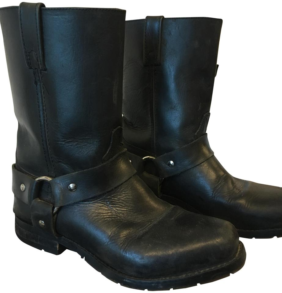 16f4aaf7e5fb Double-H Boots Black Motorcycle Riding Boots Booties Size US 7 ...