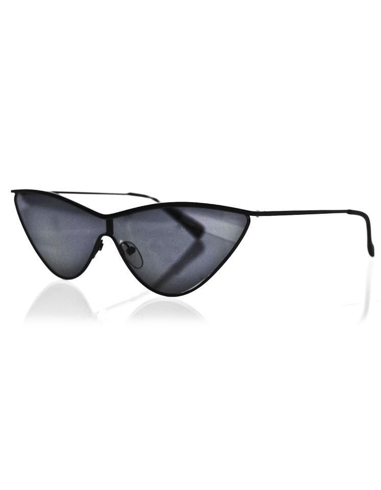 042bb7f94f Le Specs Adam Selman x Le Specs Black The Fugitive Cat-Eye Sunglasses with  Case ...