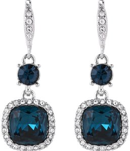 Givenchy Silver-Tone & Blue Drop Earrings