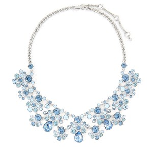 Givenchy Silver-Tone & Blue Statement Necklace