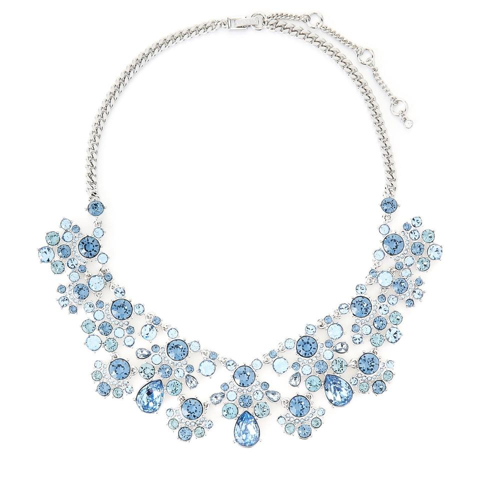 Givenchy Silver Tone Amp Blue Statement Necklace Tradesy
