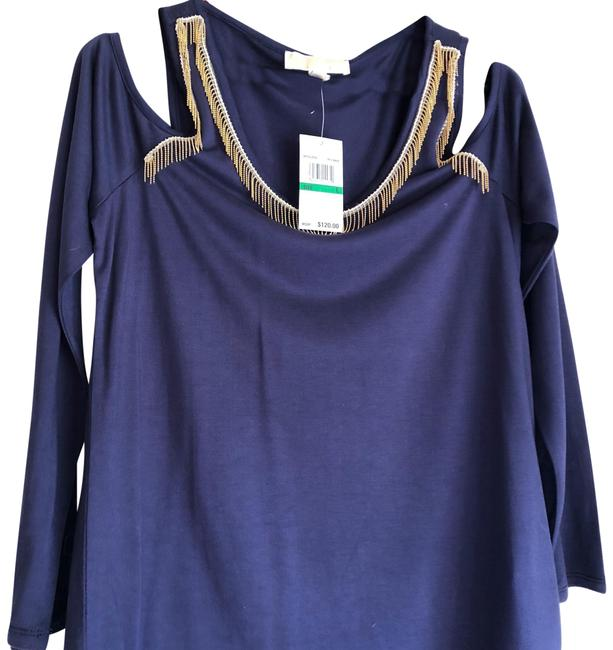 Preload https://img-static.tradesy.com/item/22831741/michael-michael-kors-navy-blue-cold-shoulder-tunic-size-12-l-0-1-650-650.jpg