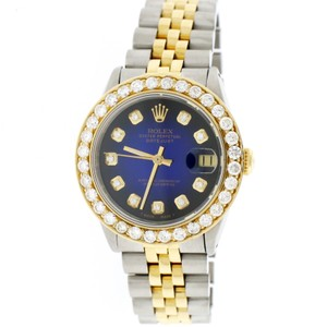 Rolex Datejust 2-Tone Gold/Steel 31mm Womens w/Diamond Dial & 2.25Ct Bezel