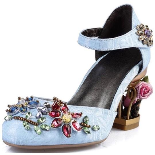 Preload https://img-static.tradesy.com/item/22831856/blue-handmade-brocade-crystal-pumps-size-us-6-regular-m-b-0-0-540-540.jpg