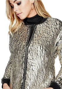 Guess Bomber Gold Faux Fur Fur metallic, black Jacket