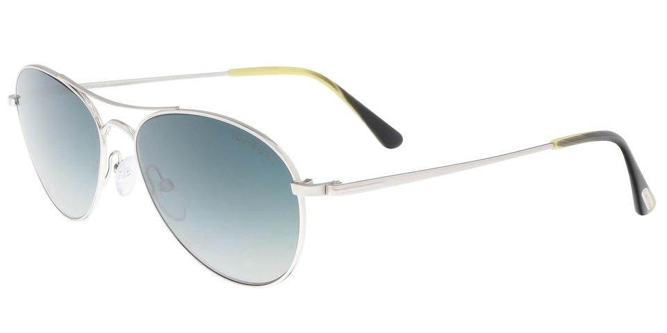 093ab5cd0b Tom Ford Tom Ford FT0495 S 18W Oliver Silver Aviator Sunglasses Image 0 ...