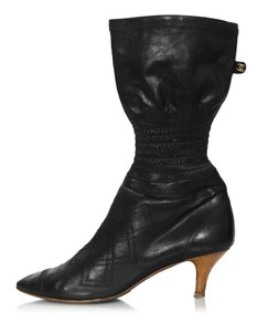 Chanel Vintage Stretch black Boots