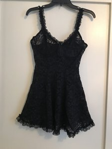 Black Elegant All Sheer Lace with Underwire Nighty