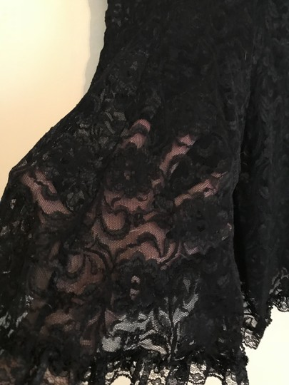 Black Elegant All Sheer Lace with Underwire Nighty Image 2