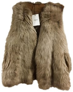 Theory Reversible Goatskin Lamb Leather Fur Vest