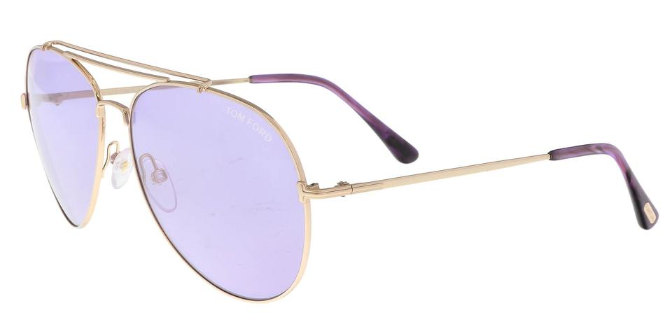 83396f27b82 Tom Ford Tom Ford FT0497 S 28Y INDIANA Gold Aviator Sunglasses Image 0 ...