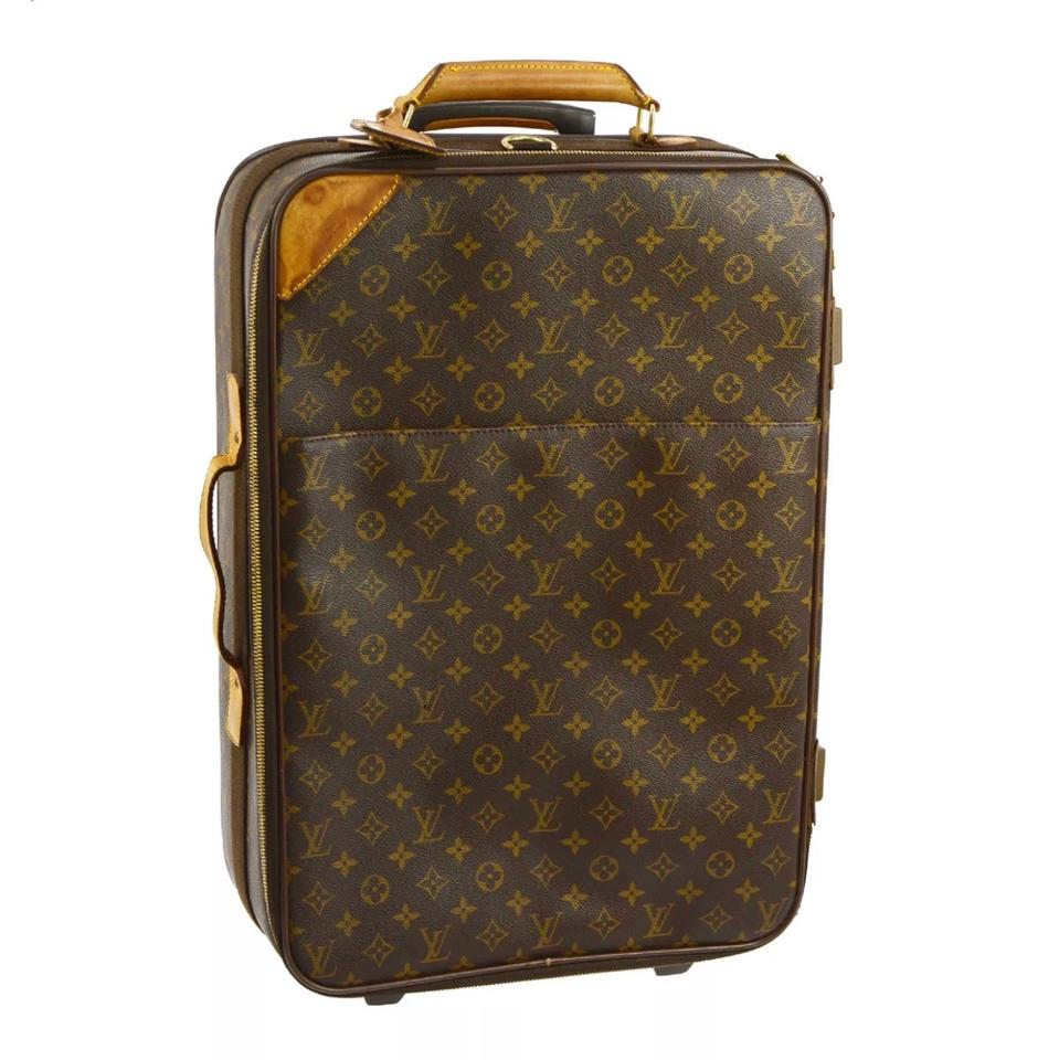 louis vuitton sale pegase 55 rolling monogram leather weekend travel bag tradesy. Black Bedroom Furniture Sets. Home Design Ideas
