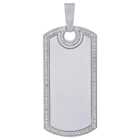 Preload https://img-static.tradesy.com/item/22832575/jewelry-for-less-stainless-steel-round-diamond-engravable-dog-tag-pendant-060-ct-charm-0-0-540-540.jpg