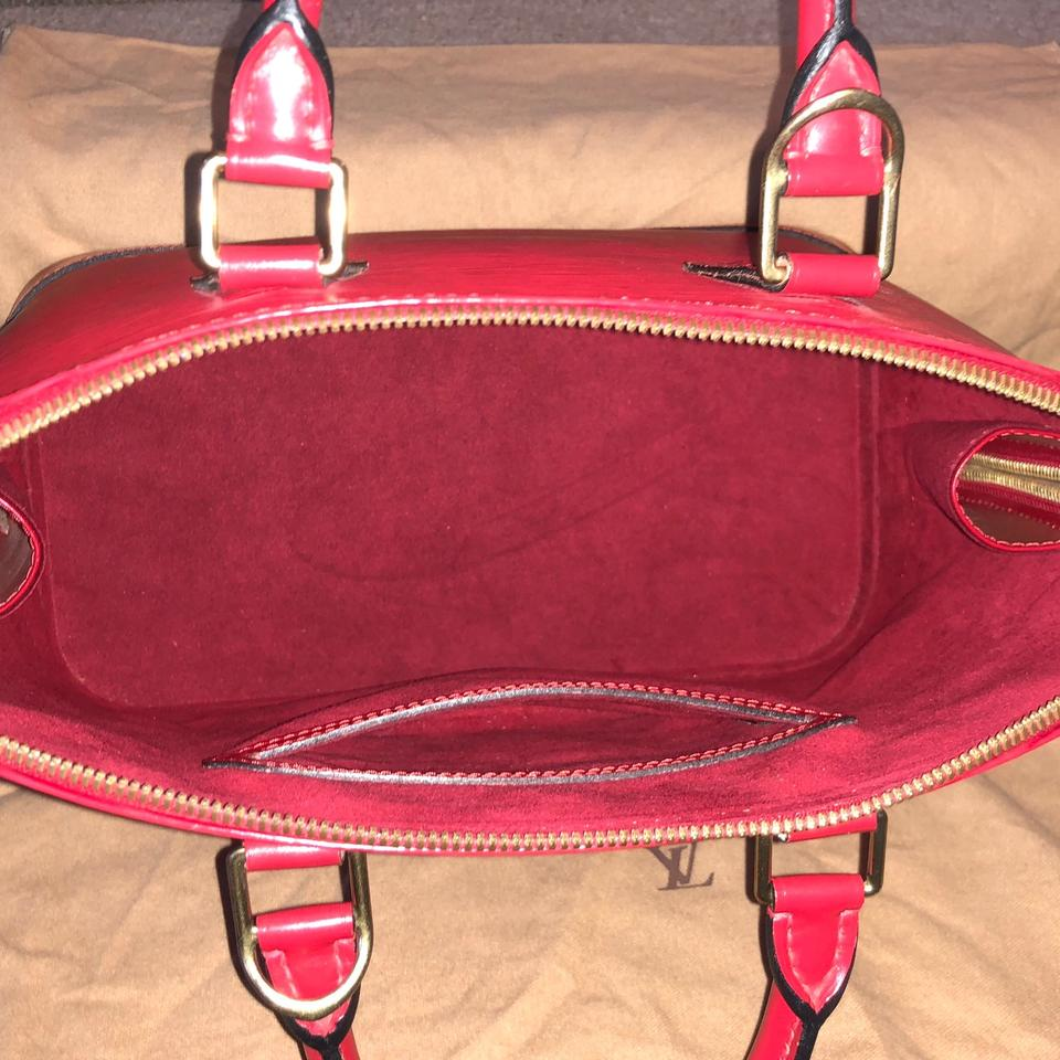 louis vuitton alma vintage handbag epi leather pm red canvas satchel tradesy. Black Bedroom Furniture Sets. Home Design Ideas