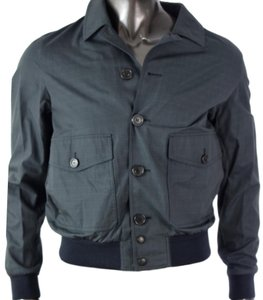 Burberry Blue Carbon Men's Tonal Plaid Jacket Groomsman Gift