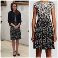 Tory Burch Black/White Sophia A-line Floral Print Mid-length Work/Office Dress Size 8 (M) Tory Burch Black/White Sophia A-line Floral Print Mid-length Work/Office Dress Size 8 (M) Image 3