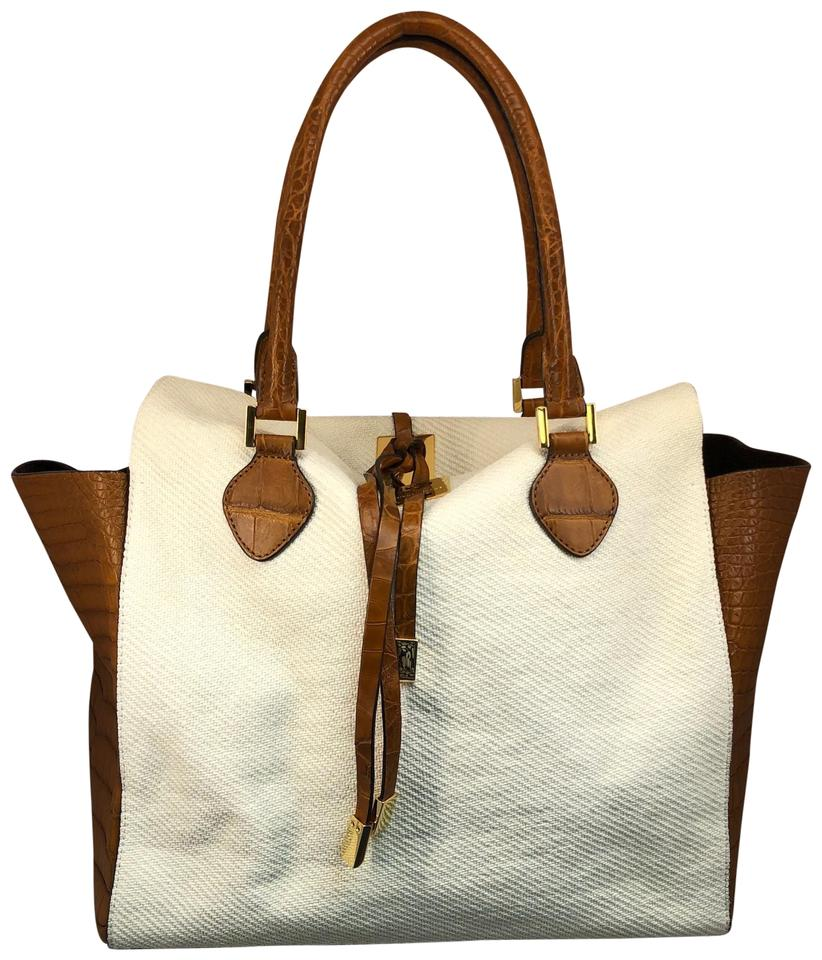 8a678517240b Michael Kors Miranda Limited Edition Large Tote with Sides White and ...