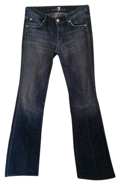 7 For All Mankind Unique Pockets Boot Cut Jeans-Medium Wash