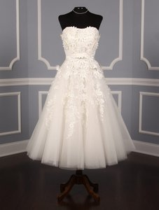 St. Patrick Ivory Tulle W/Lace and Flower Appliques Katya 021 Formal Wedding Dress Size 12 (L)