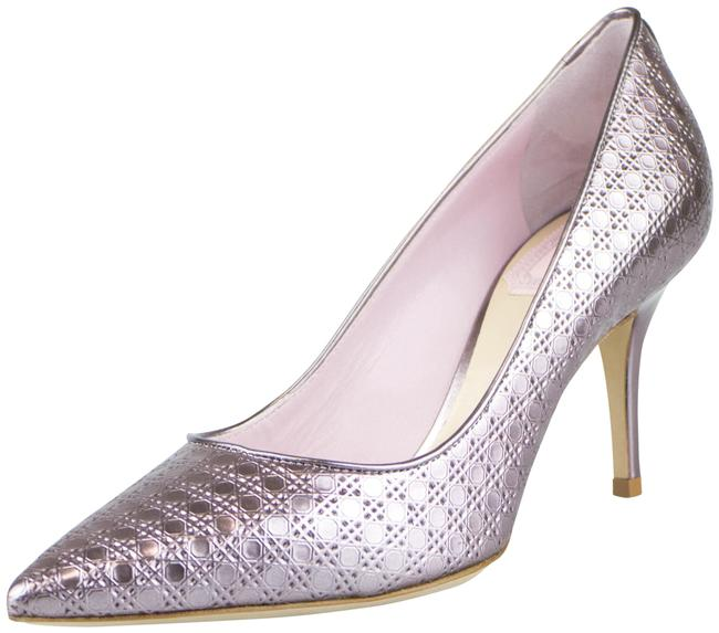 Item - Mettaliic Rose 'cherie Cannage' Heels Pumps Size EU 35 (Approx. US 5) Wide (C, D)