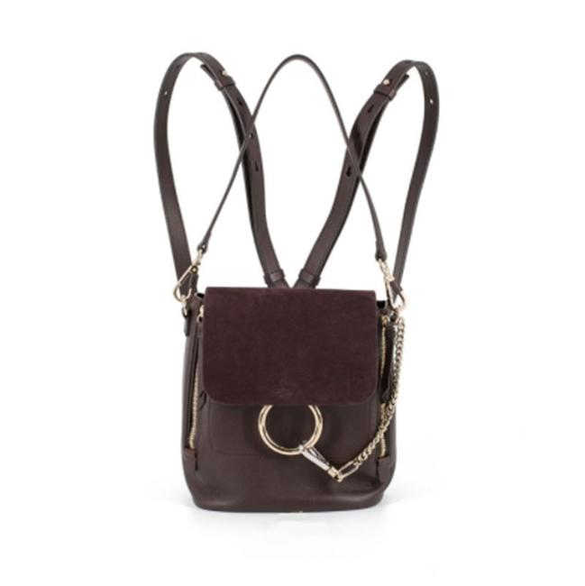 Item - Faye Small Brown Leather Backpack