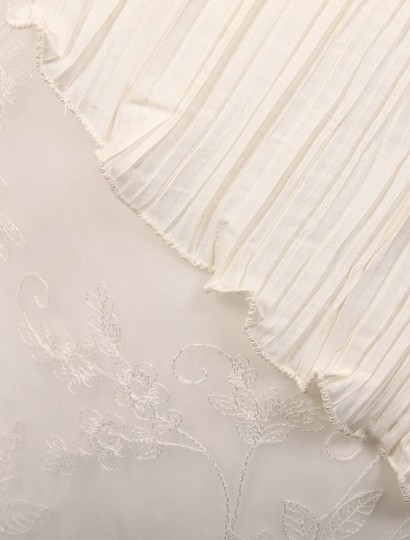 St. Pucchi Ivory Silk Shantung and Embroidered Silk Organza Versailles Z110 Formal Wedding Dress Size 10 (M) Image 10