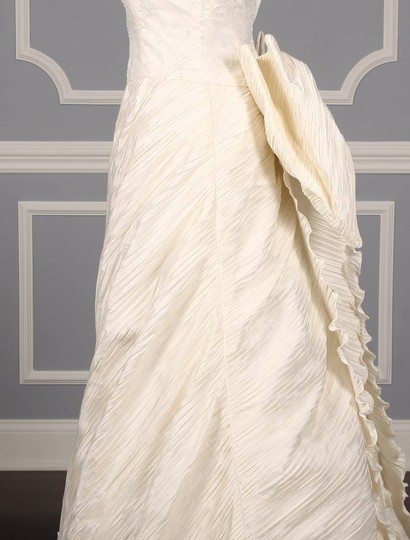St. Pucchi Ivory Silk Shantung and Embroidered Silk Organza Versailles Z110 Formal Wedding Dress Size 10 (M) Image 5
