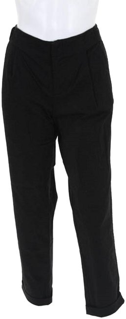 Item - Pewter Black Cotton Pleated Skinny Leg Casual New Pants Size 6 (S, 28)
