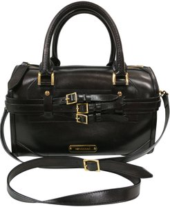Burberry Leather Satchel Bowling Cross Body Bag