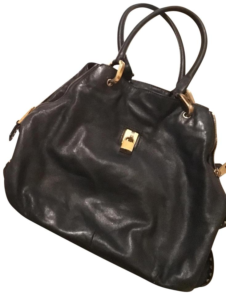 Marc Jacobs Leather Studded Tote In Black