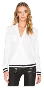 RVCA Wrap Banded Crepe Retro Top White