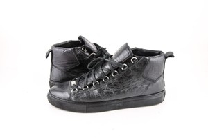 Balenciaga * Black Arena Leather Sneakers Shoes