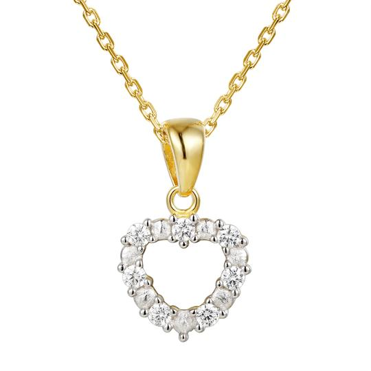 Master Of Bling Women's Solitaire Lab Diamonds Heart Love Small Pendant Set Image 1
