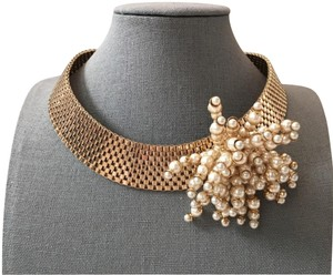 Dior RARE Gold Pearl Cluster Collar Necklace