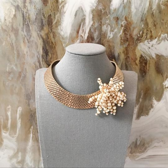 Dior RARE Gold Pearl Cluster Collar Necklace Image 1