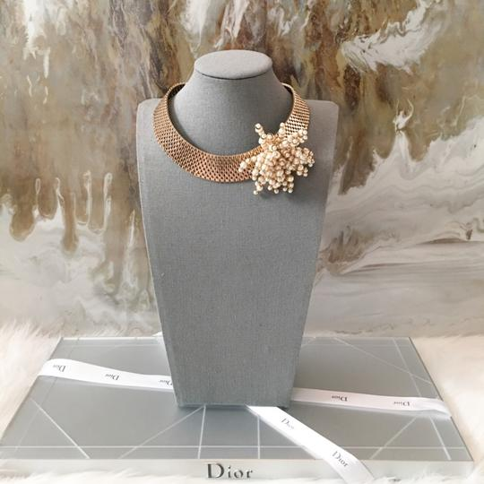 Dior RARE Gold Pearl Cluster Collar Necklace Image 2
